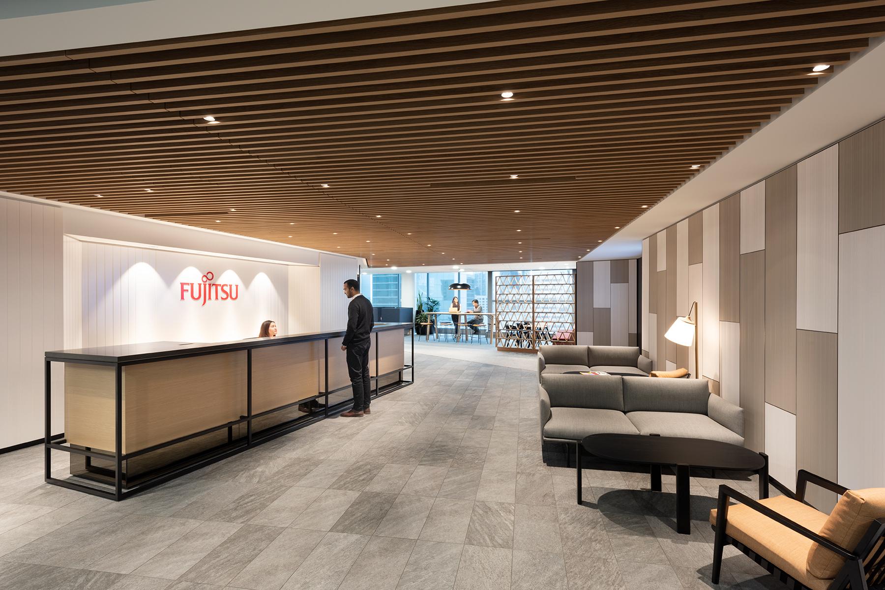 Sự kết hợp của tinh thần Nhật Bản và âm hưởng kiến trúc Austrlia trong thiết kế văn phòng Fujisu tại