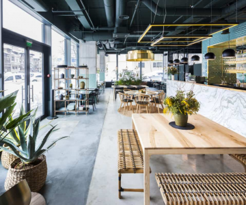 Nhà hàng Kane World Food Studio, điểm nhấn xanh trong công trình hiện đại giữa lòng Bucharest