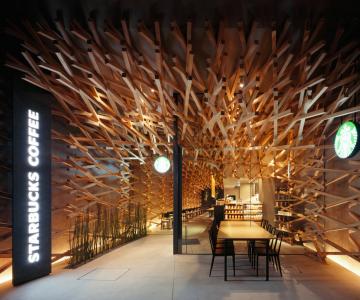 Thiết kế nội thất Starbucks Coffee độc đáo tại Nhật Bản