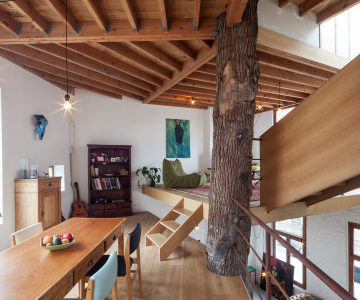 Ngôi nhà độc đáo với thiết kế xoắn ốc