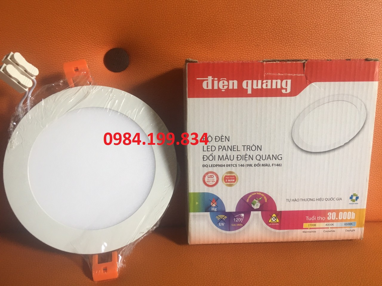 Bộ Đèn LED Panel tròn Điện Quang ĐQ LEDPN04 18 225 ( 18W F225 )