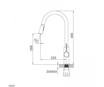 Vòi rửa chén nóng lạnh Malloca K012C2/2