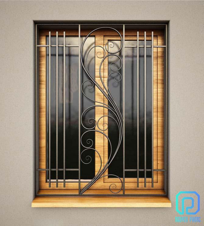 Khung bảo vệ, khung trang trí cửa sổ sắt uốn nghệ thuật sơn epoxy cao cấp cho biệt thự, nhà phố8/10