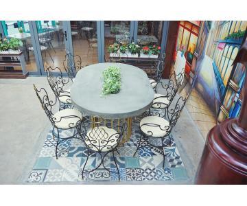 Bàn ghế sắt mỹ thuật cho nội thất, quán cafe, bàn ghế sân vườn