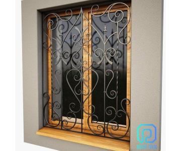 Khung bảo vệ, khung trang trí cửa sổ sắt uốn nghệ thuật sơn epoxy cao cấp cho biệt thự, nhà phố4/10
