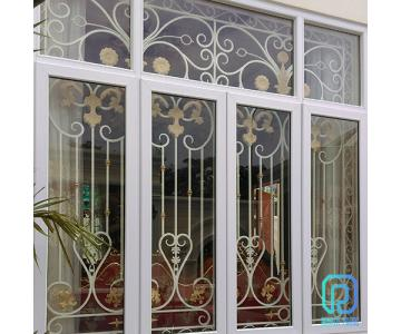 Khung bảo vệ, khung trang trí cửa sổ sắt uốn nghệ thuật sơn epoxy cao cấp cho biệt thự, nhà phố6/10