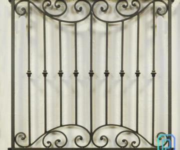Khung bảo vệ, khung trang trí cửa sổ sắt uốn nghệ thuật sơn epoxy cao cấp cho biệt thự, nhà phố9/10