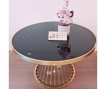 Bàn sofa tròn mặt kính KingsMan