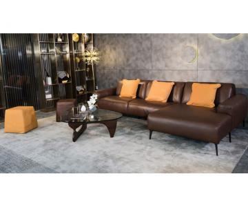 Sofa góc chữ L da thật Sissy E119 văng L3