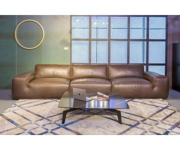Sofa da thật văng 3 Luxury Avenue Chateau d'Ax