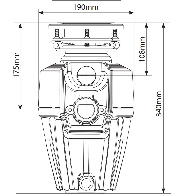 Máy xay rác cho chậu rửa công suất 1/2 mã lực điều khiển từ xa EX50MCL2/6