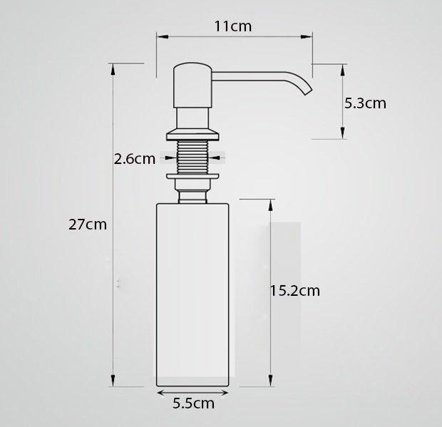 Bình đựng nước rửa chén - bát Soap Dispenser SD321  2/4
