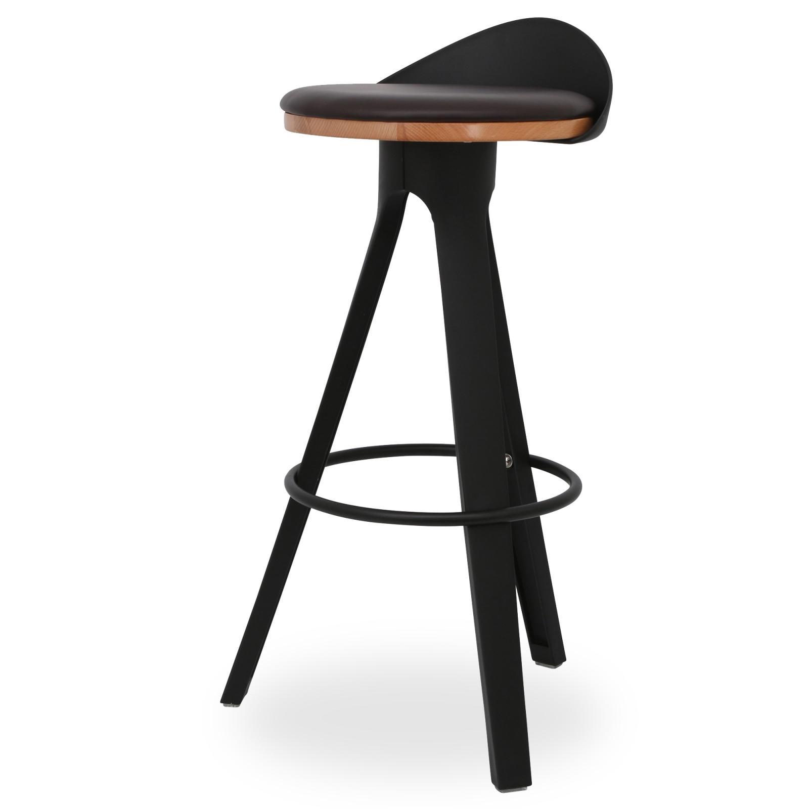 Ghế bar Trio mặt gỗ có nệm chân nhựa PP 1/3