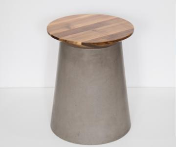 Bàn góc bê tông,gỗ | Side table