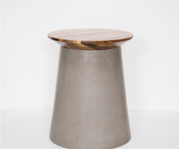 Bàn góc bê tông,gỗ | Side table2/3