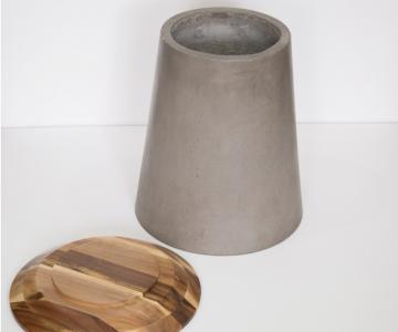 Bàn góc bê tông,gỗ | Side table3/3