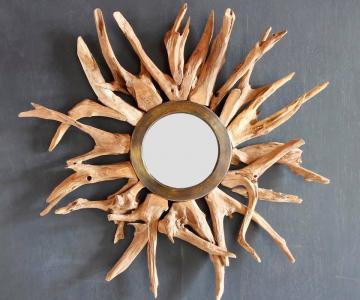 Gương gỗ mộc decor