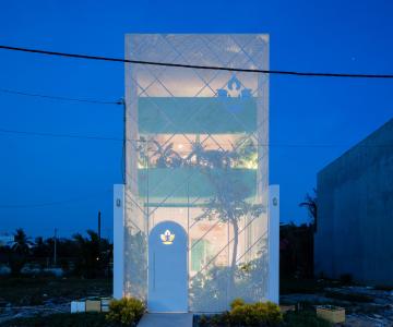 Ngôi nhà ống lung linh như pha lê ở Sài Gòn