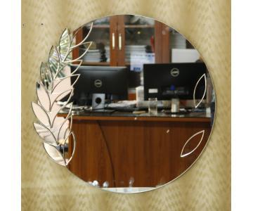 Gương treo trang điểm họa tiết lá
