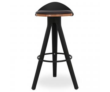 Ghế bar Trio mặt gỗ có nệm chân nhựa PP 3/3