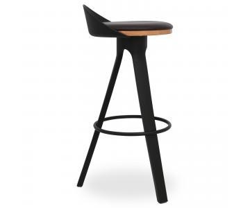 Ghế bar Trio mặt gỗ có nệm chân nhựa PP 2/3