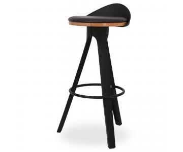 Ghế bar Trio mặt gỗ có nệm chân nhựa PP