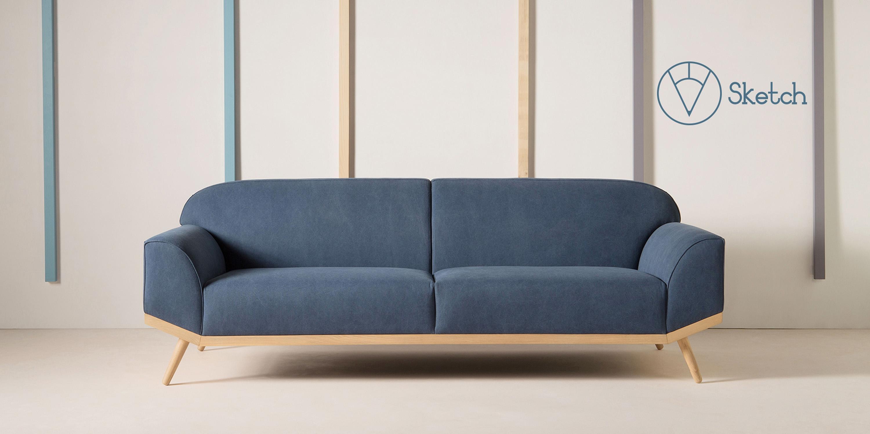 Ghế sofa 2 chỗ ngồi bọc vải otto SF11/14