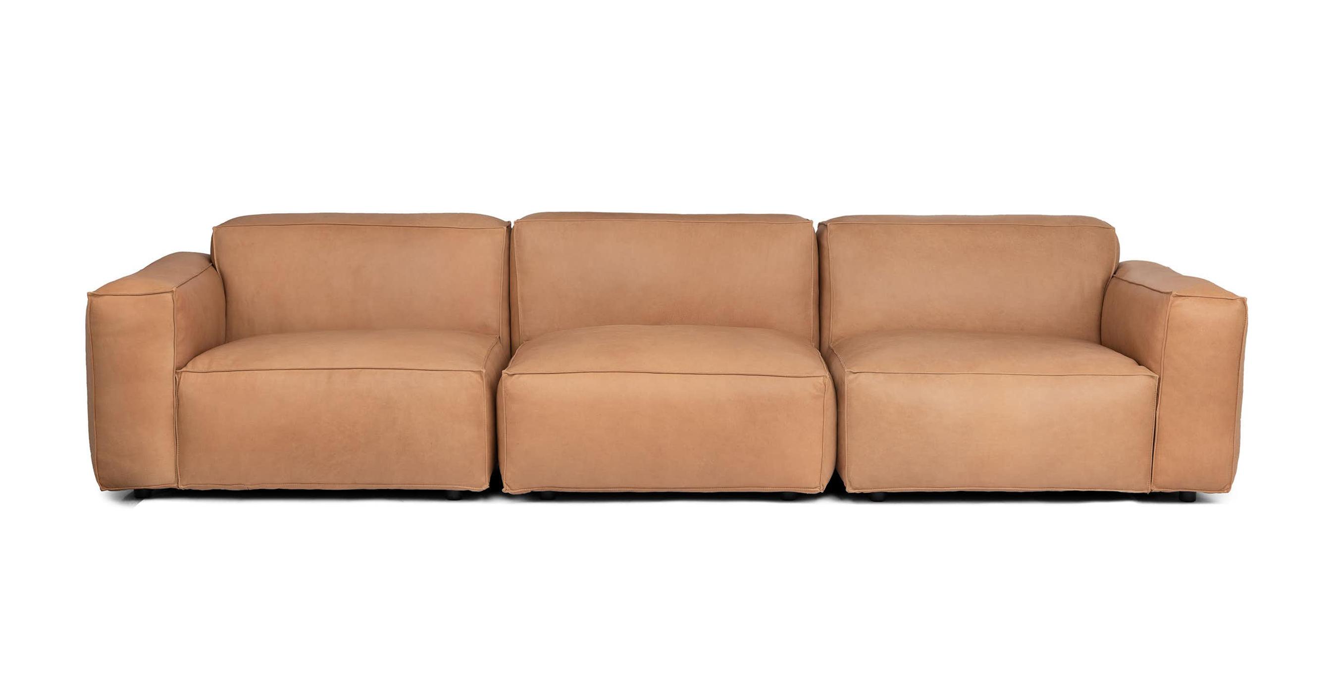 Ghế Sofa bọc da gỗ tự nhiên 3 chỗ ngồi Sketch1/9