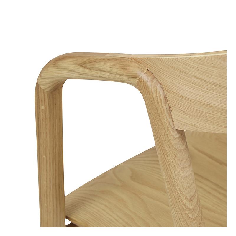 Ghế đơn gỗ sồi Inlay DC Sketch đẹp xuất khẩu8/13