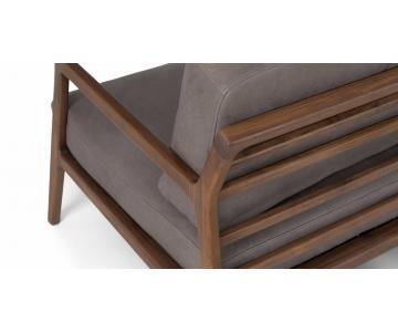 Ghế đơn bọc da gỗ tự nhiên Nysse LC Sketch5/6