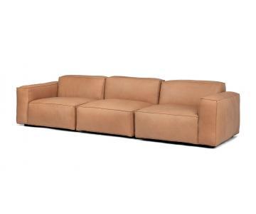 Ghế Sofa bọc da gỗ tự nhiên 3 chỗ ngồi Sketch5/9