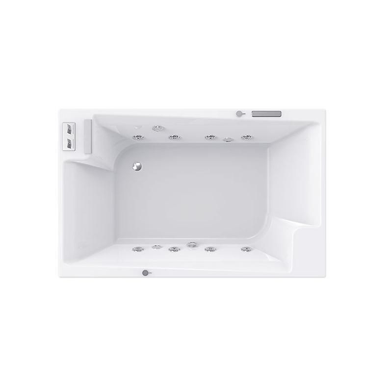 Bồn tắm âm sàn vuông Bravat 1.7m B25704DW-42/3