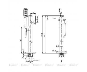 Cây sen tắm đứng Bravat F665104C-B3-ENG2/3