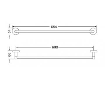 Thanh treo khăn đơn Ribel TB4321402/2