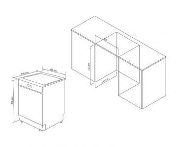 Máy Rửa Chén Âm Tủ WQP12-J7309K2/2