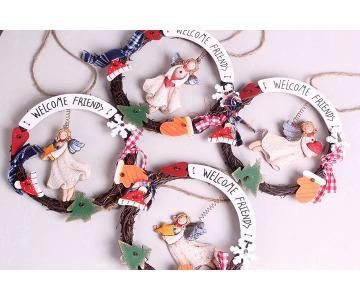 Vòng handmade treo cửa welcome | MERRY CHRISTMAS