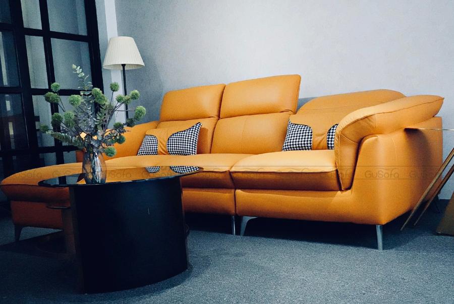 VB9 - Set Sofa 3 chỗ kèm ghế đôn KEVA 50% da bò thuộc Italia3/9