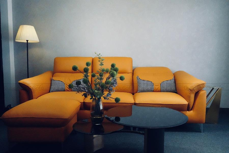 VB9 - Set Sofa 3 chỗ kèm ghế đôn KEVA 50% da bò thuộc Italia6/9