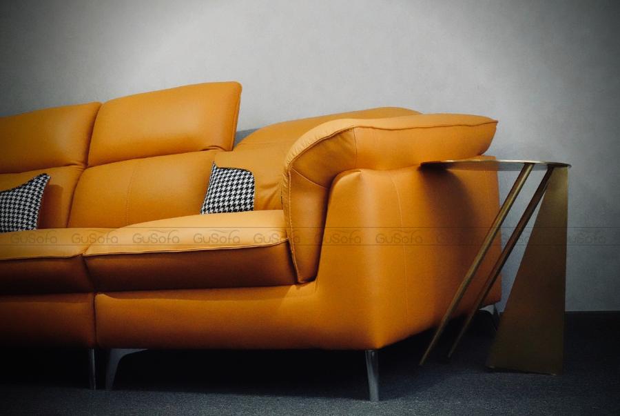 VB9 - Set Sofa 3 chỗ kèm ghế đôn KEVA 50% da bò thuộc Italia9/9