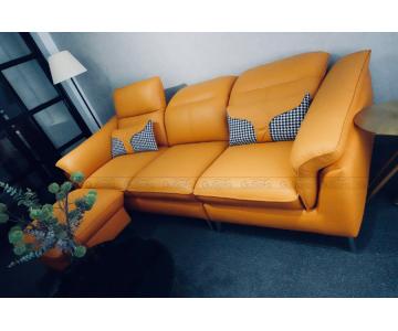 VB9 - Set Sofa 3 chỗ kèm ghế đôn KEVA 50% da bò thuộc Italia7/9