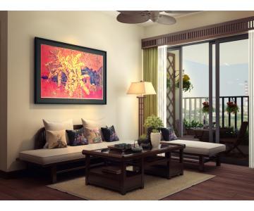 Sofa gỗ tự nhiên Simple-X 1SF040