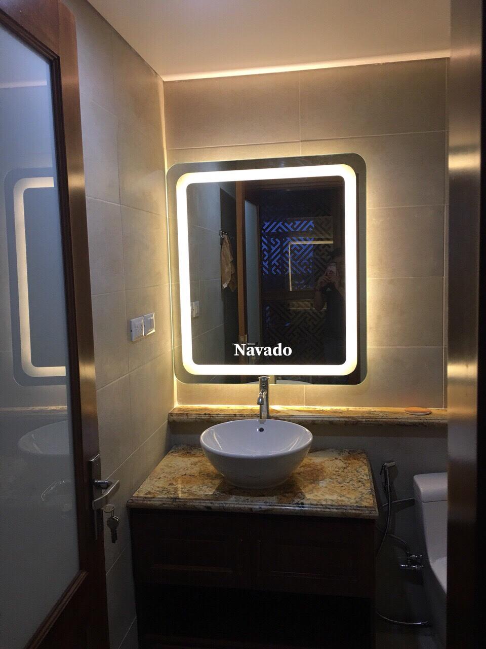 Gương phòng tắm đèn led hình chữ nhật1/4
