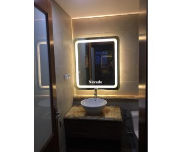 Gương phòng tắm đèn led hình chữ nhật