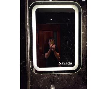 Gương phòng tắm đèn led hình chữ nhật3/4