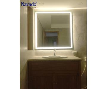Gương phòng tắm đèn led hình chữ nhật2/4