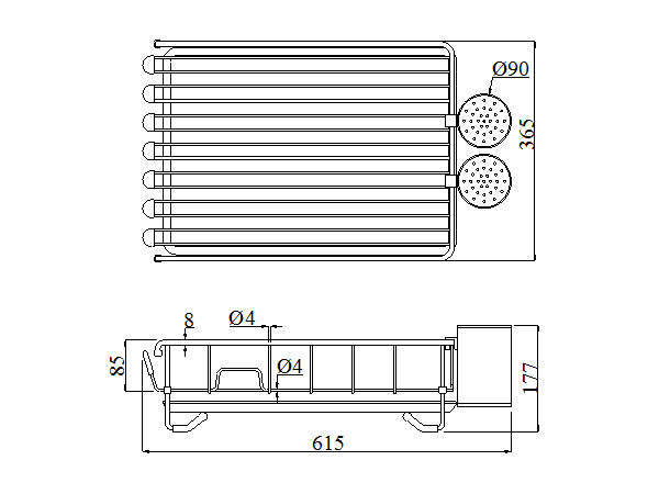 KỆ CHÉN DĨA INOX KCM 3660A6/6