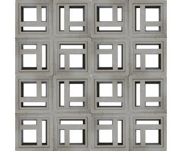 Gạch bông gió Maze-2