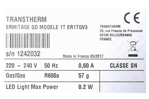 Tủ rượu TRANSTHERM - Model: ERMITAGE11/19