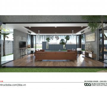 Thiết kế biệt thự Ms. Dương Cần Giờ | Kiến trúc Bộ Ba